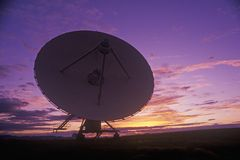 Radio telescope dishes at National Radio Astronomy Observatory in Socorro, NM Stock Photography