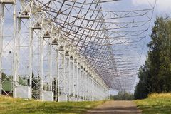 Radio telescope DKR-1000 in Russia Stock Photo