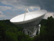Radio Telescope at the Effelsberg, Nordrhein-Westfalen. The giant radio telescope was built in a remote forested area of the Eifel Mountains near Bad Royalty Free Stock Images