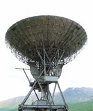 Radio telescope in Norwegian mountains. Stock Photos