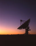 Radio Telescope Silhouette Royalty Free Stock Photos