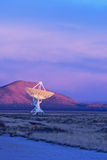 Radio Telescope at Sunset Royalty Free Stock Photo