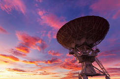Radio Telescope at Sunset Royalty Free Stock Image