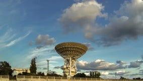 Radio telescope taymlaps stock video footage