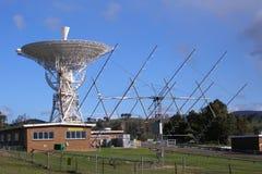 Radio Telescopen, het Ruimte Volgen Tidbinbilla Post royalty-vrije stock foto's