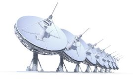 Radio telescopes Royalty Free Stock Photo