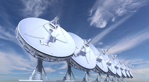 Radio Telescopes Stock Photo