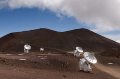 Radio telescopes, Mauna Kea, Big Island, Hawaii Stock Image