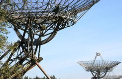 Radio telescopes in the Netherlands (close-up) Stock Photography