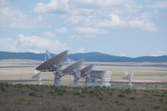 Very Large Array Antennas in New Mexico stock photo