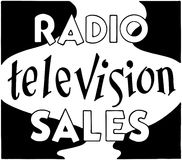 Radio Television Sales Royalty Free Stock Photography