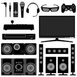 Radio Television System Electronic Appliances vector illustration