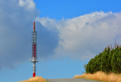 Radio and television transmitter in Beskydy Stock Image