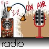 Radio thema stock illustratie