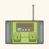 Radio theme elements vector,eps. Vector illustration file Royalty Free Stock Photos