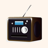 Radio theme elements vector,eps Stock Photo