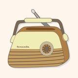 Radio theme elements vector,eps Stock Photo
