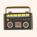 Radio theme elements vector,eps. Vector illustration file Stock Photography