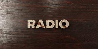Radio - titre en bois sale sur l'érable - image courante gratuite de redevance rendue par 3D illustration de vecteur