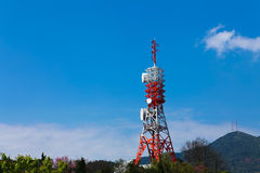 Radio Tower. A Radio Tower in hill stock photos