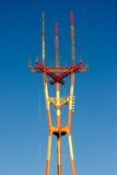 Radio tower. Top of Sutro Tower in San Francisco Stock Image