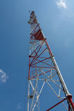 Radio tower. View from near the base of a radio tower Stock Photography