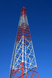 Radio tower. With blue sky background royalty free stock photography