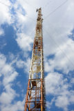 Radio tower with antennas Royalty Free Stock Image