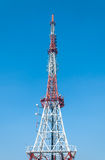 Radio Tower. A radio tower atop a mountain in Seoul, South Korea royalty free stock photography