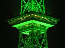 Radio Tower, Berlin, Night, Green Royalty Free Stock Image