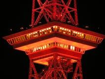 Radio Tower, Berlin, Night, Red Stock Photos