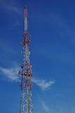 Radio tower blue sky Stock Image