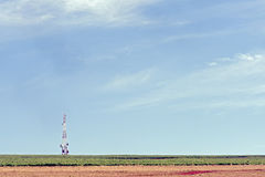 Radio tower. With broadcast antennas Royalty Free Stock Photography