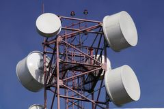 Radio tower for cellular telephone Stock Photo
