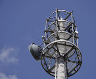 Radio tower for communications Royalty Free Stock Photo