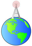 Radio tower on earth Stock Photos