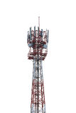 Radio tower isolated on white background. Royalty Free Stock Images