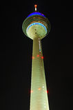 Radio tower by night. Illuminated radio tower by night Stock Images