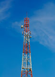 Radio tower with satellite dish Stock Photography