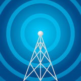 Radio tower shape Royalty Free Stock Photo