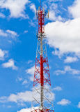 Radio tower and the sky Royalty Free Stock Photo