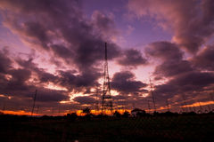 Radio Tower with sky background Stock Images