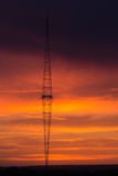 Radio Tower with sky background. Royalty Free Stock Photo