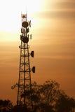 Radio Tower with sky background. Stock Photos
