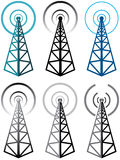 Radio tower symbols Royalty Free Stock Image