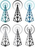 Radio tower symbols Royalty Free Stock Image