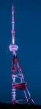 Radio Tower Tbilisi. Overlooking the Georgia capital Tbilisi is a radio tower that is lit at night .The tower brightens up the skyline over Tbilisi Stock Photos
