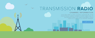 Radio Tower. Transfer radio signal. Wireless Communications. Transfer of radio waves. Flat Vector Illustration vector illustration