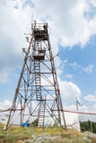 Radio tower with transmitters and receivers Royalty Free Stock Photography