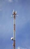 Radio tower in Vakhonino. Russia.  Stock Photo